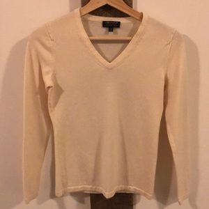 Extra Fine Merino Wool Cream V-Neck. Yum!